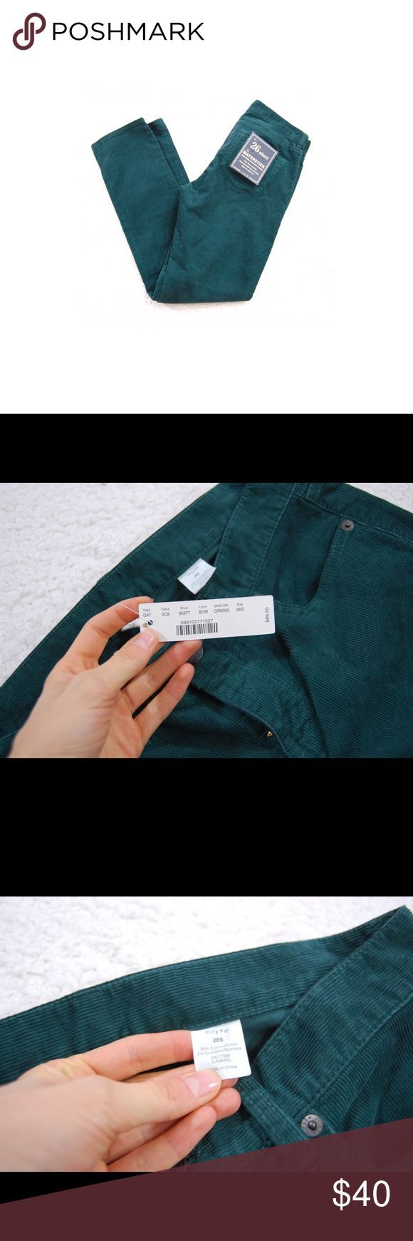 J crew matchstick Jeans Corduroy forest green NWT J crew matchstick Jeans Cordur…