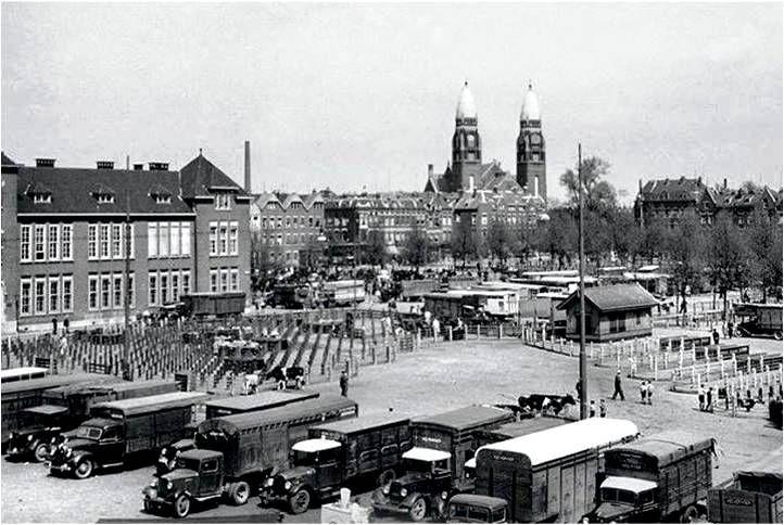Veemarkt van voor de tweede wereldoorlog.