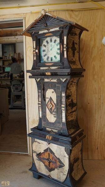 Adirondack Rustic Grandmother Clock