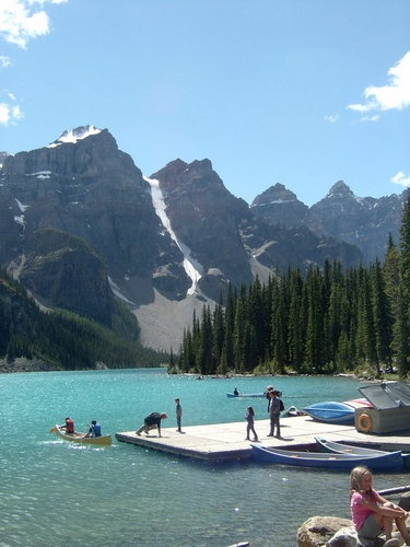 You've never seen clear water until you've been to Banff. –QM