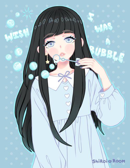 Imagem de girl, anime, and blue