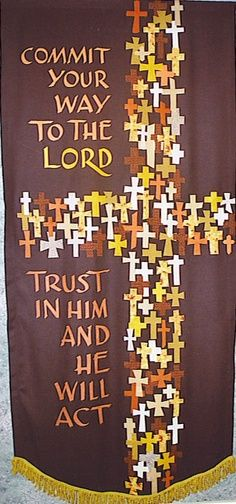 worship banners for church - Google Search LIKE ALL THE LITTLE CROSSES, MAKING THE LARGE CROSS