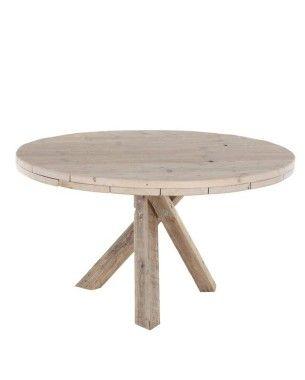 Steigerhouten ronde tafel maken
