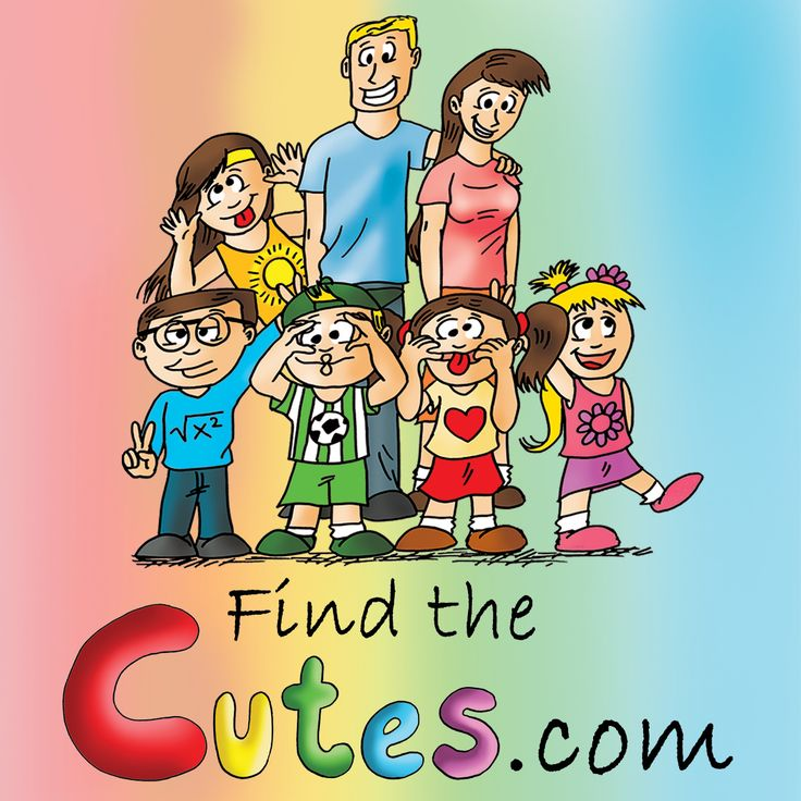 """Find the Cutes, a children's book, similar to """"Where is Waldo"""" but more focused on children. Fun cartoons for children. Cute characters. Like us on Facebook! Visit www.findthecutes.com."""