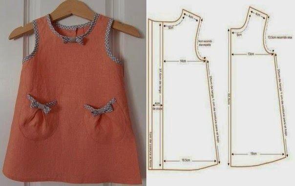 Patrones para hacer vestidos para niñas de 3 – 5 años