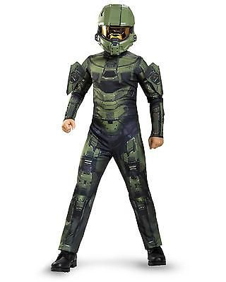 Child Halloween Costume Master Chief Kids Boy Halo Fancy Dress Up Size 14-16 Xl