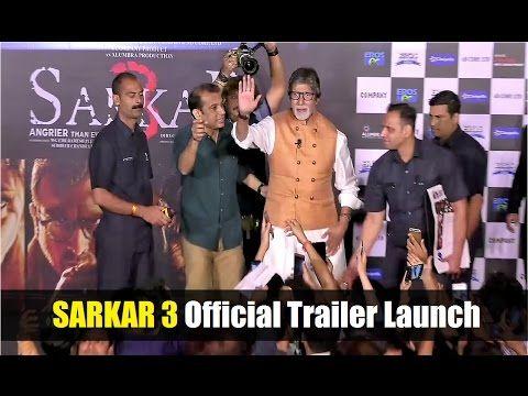 Sarkar 3 (2017) Official Trailer Launch | Amitabh Bachchan, Yami Gautam, Jackie Shroff.    Click here to see the full video > https://youtu.be/hYPFWY5m32c    #sarkar3 #bollywood #bollywoodnews #bollywoodnewsvilla