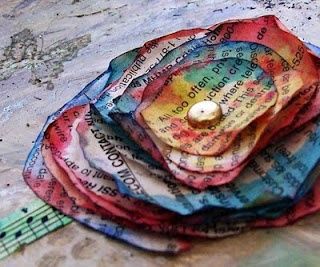 Phone book page flower craft for kids.