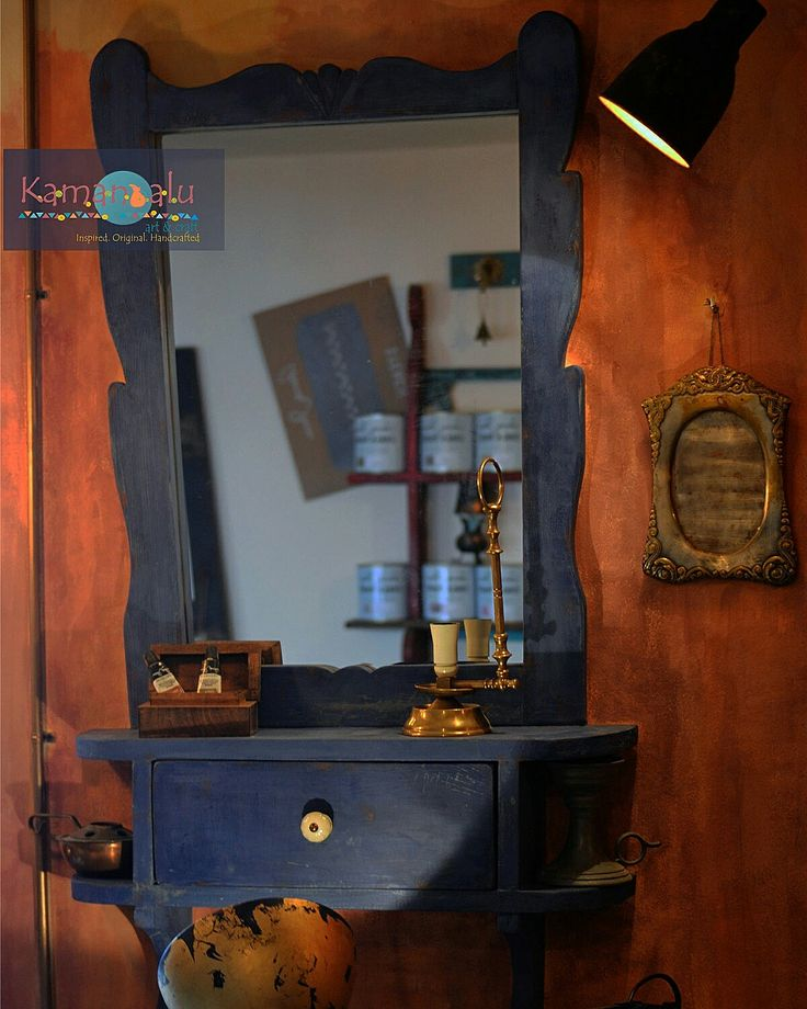 Napoleonic blue, Greek blue, Primer Red / Annie Sloan Chalk Paint Kamandalu Art & Craft
