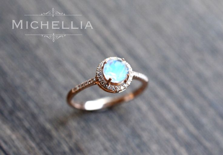 Boho moonstone engagement ring ❤️