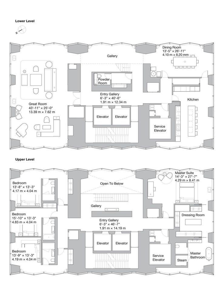 100 East 53rd St Ph In Midtown Manhattan Streeteasy Floor Plan Design House Plans Floor Plans