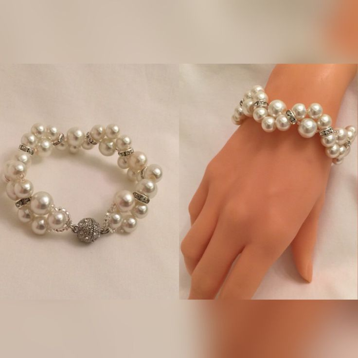 A personal favorite from my Etsy shop https://www.etsy.com/listing/253450319/ivory-glass-pearl-braceletflower-girl