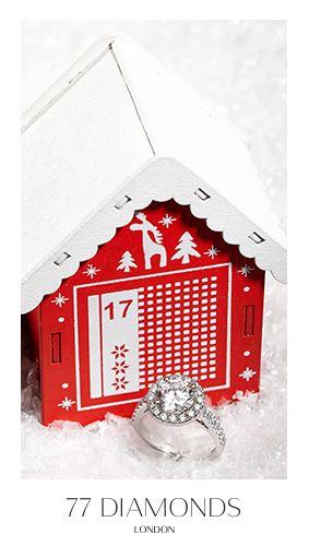 Rock around the Christmas tree with the Medici halo engagement ring. #77Dadventcalendar #adventcalendar #Christmas