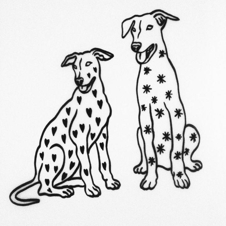 Piesełki do przytulenia #dog #tattoo #dogtattoo #ink #drawing #draw #illustration #graphic #simple #animal #dogs #dogstagram #linework #black #blackwork #blackandwhite #heart #star #friends #saturday #warsaw #tatuaz #tatuaż #love