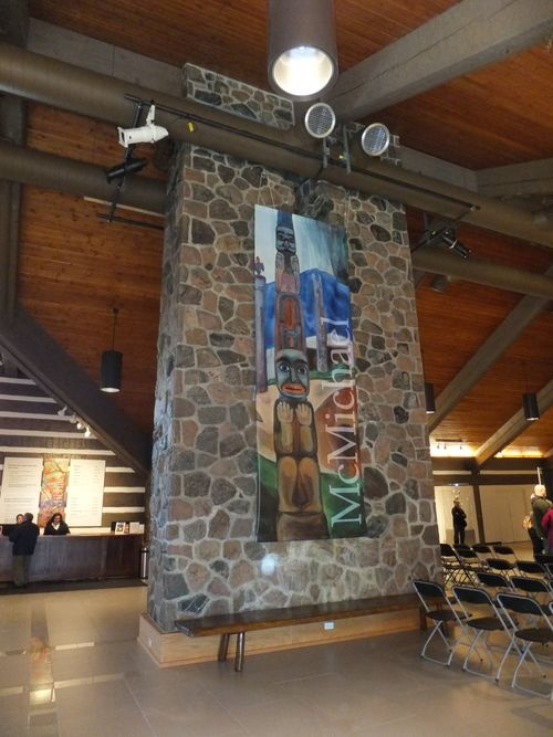 I visited on Decem ber 23, 2013 - my birthday. The McMichael Gallery in Kleinburg, Ontario is home to a large Group of 7 collection.