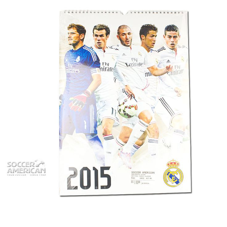 2015 Real Madrid Calendar - Available now at www.SoccerAmerican.com