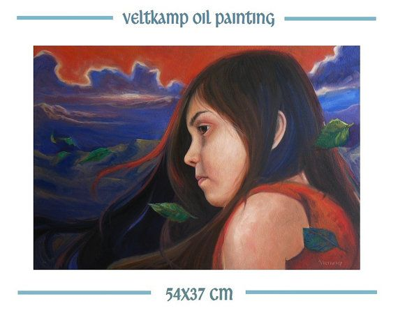 no shipping costs  figure portrait oil by VeltkampOilPainting