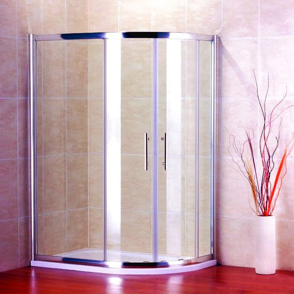 Best Quadrant Shower Enclosure Part - 49: 1000X800mm Quadrant Shower Enclosure + Stone Tray