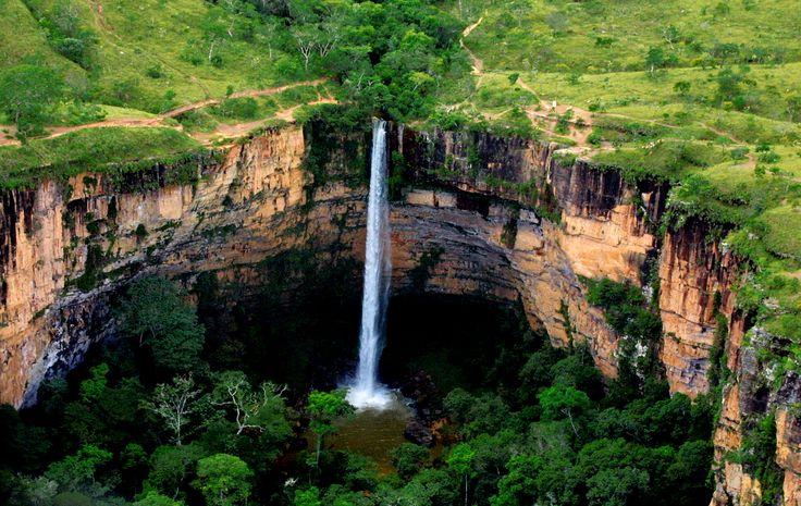 Cachoeira Véu de noiva, Chapada dos Guimarães/MT - Brasil