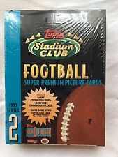 Sealed Topps Stadium Club 1993 series 2 Football Trading Cards Jerry Rice