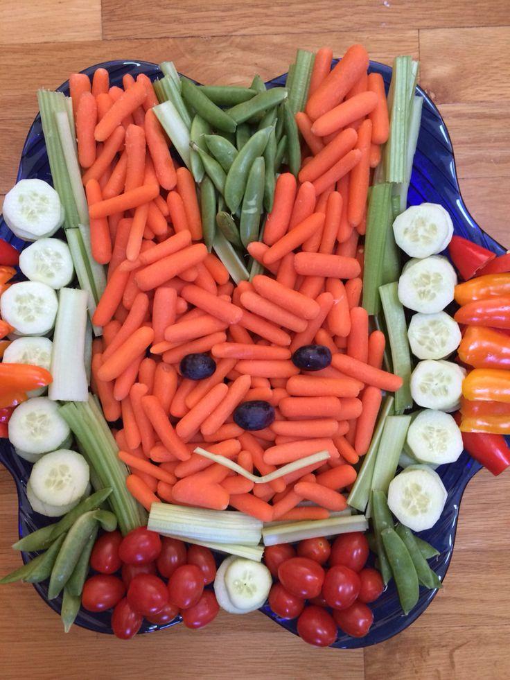 Easter Bunny Veggie Tray. The Rabbit says eat more veggies!