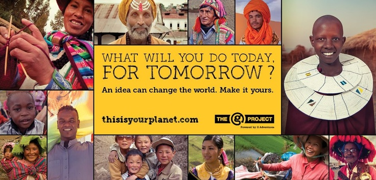 The G Project: What will you do today, for tomorrow?