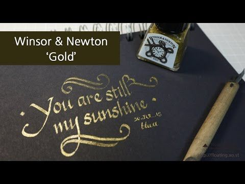 ▶ Winsor & Newton Gold Drawing Ink - Review & writing - YouTube