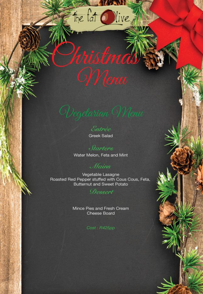 Our Christmas Menu is now available - Bookings on 071 354 6622