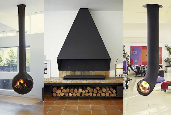 Chimeneas lineas modernas chapa negra chimeneas pinterest - Chimeneas modernas ...