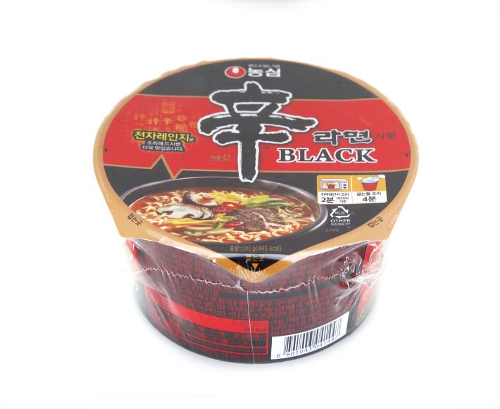 Korean Premium Noodle NONGSHIM ShinRamyun BLACK Cup Ramen Ramyun 2, 4pack #NONGSHIM