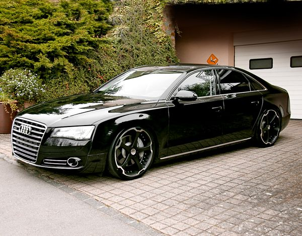 black audi. giovanna dalar 5 mate black machined stripe audi a8