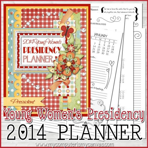 Printable Young Women Presidency Planner, New Beginnings, Young Women in Excelle