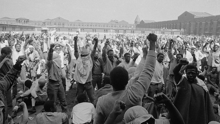 Photo from the Attica Prison riot in New York 1971 [1920x1080]