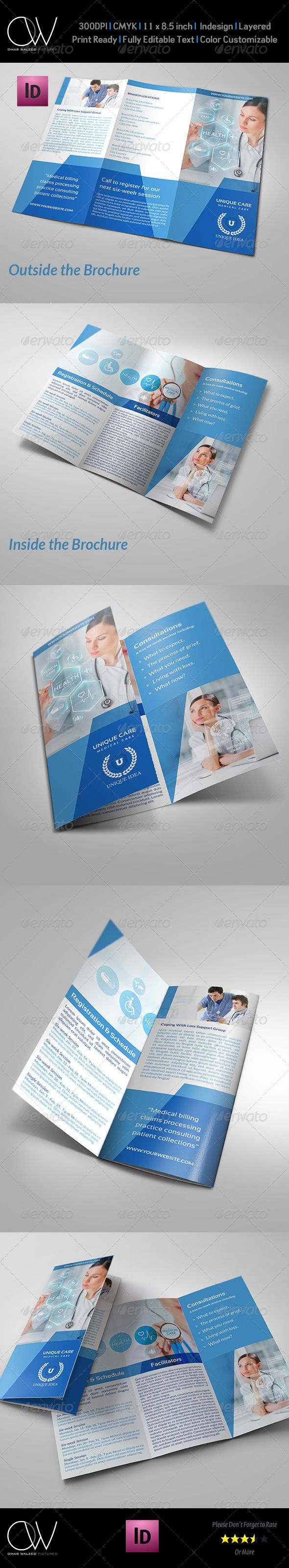 Hospital Tri-Fold Brochure Template Vol.2