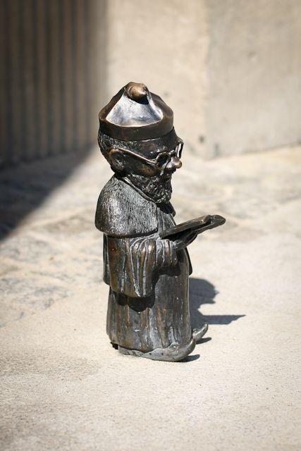 Dwarf Professor. Wroclaw, Poland