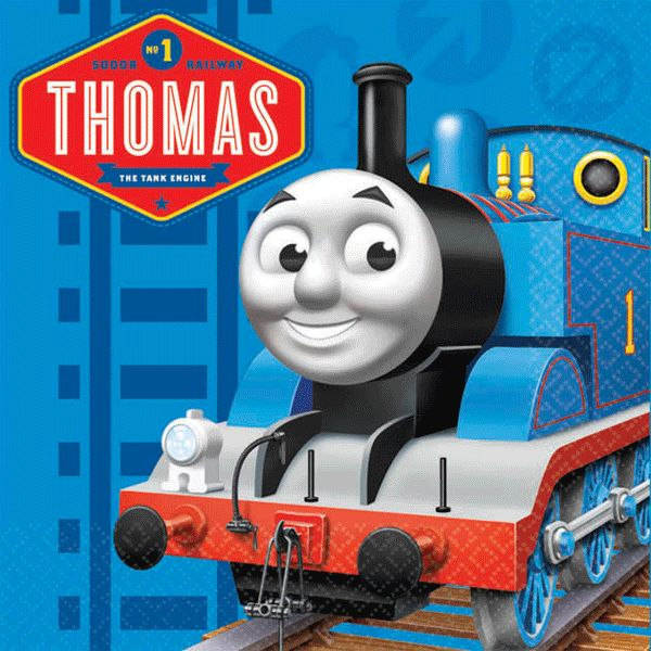 Thomas the Tank Engine Beverage Napkins [16 per Pack]