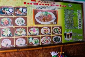 Some of The Menu - Check out the low prices!