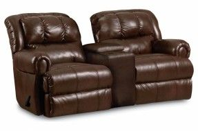 Evans 323 Reclining Rocking Console Loveseat by Lane