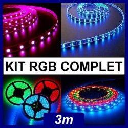 Kit ruban led RGB 3m en kit complet.