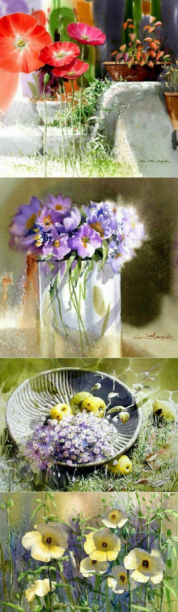 Солнечные акварели от Shin Jong Sik | искусство | Постила