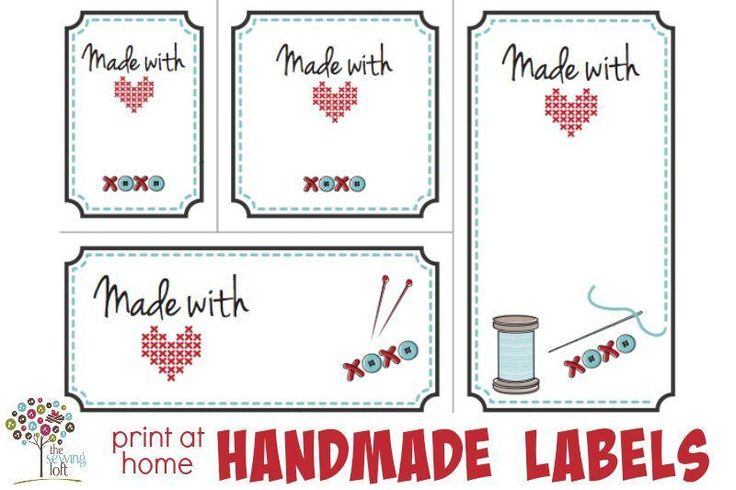 Looking for your next project? You're going to love Made with Love Labels by designer The Sewing Loft.