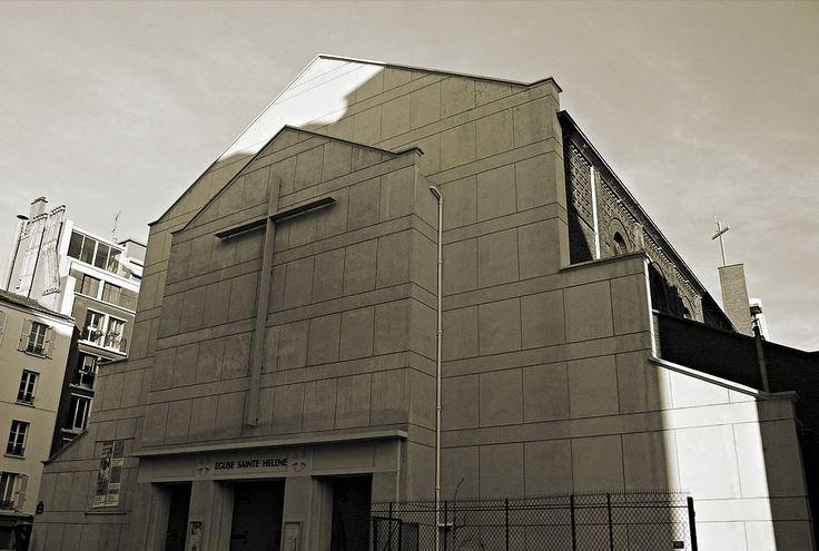 No. 47: Église Sainte-Hélène de Paris, 1934 (facade restaurée?)