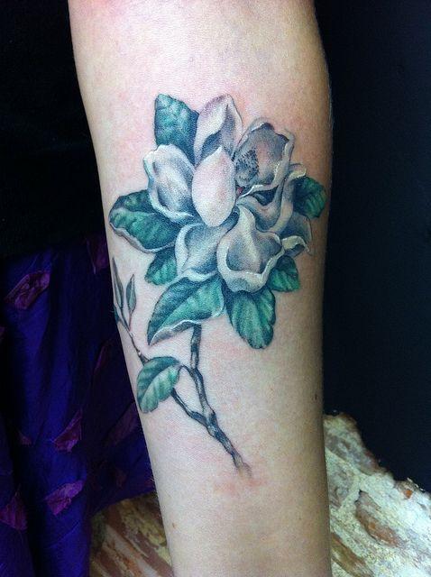 magnolia foot tattoo - photo #12