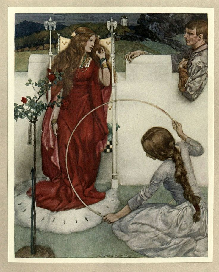 Large images of paintings :: LARGE SIZE PAINTINGS: William Russell FLINT (1880-1969) La Mort d'Arthur