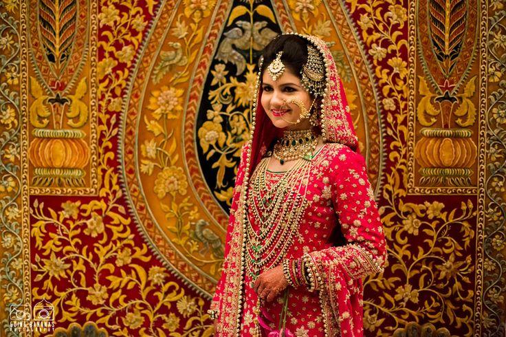 Pink Muslim Bride with Jhoomer