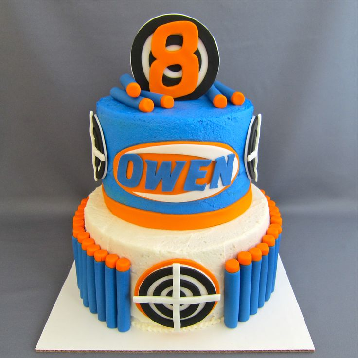 Nerf Cake - For all your cake decorating supplies, please visit craftcompany.co.uk