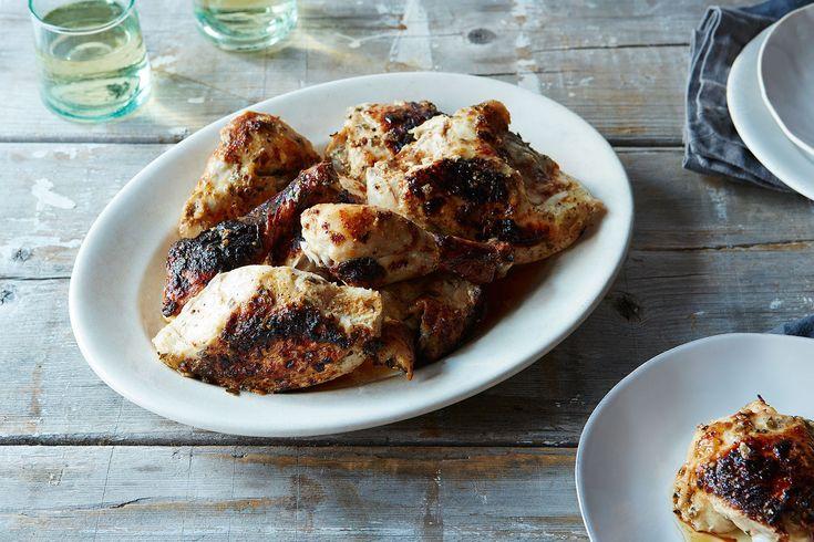 Buttermilk-Marinated Roast Chicken with Tarragon and Dijon Mustard | A 35-Minute Weeknight Roast Chicken