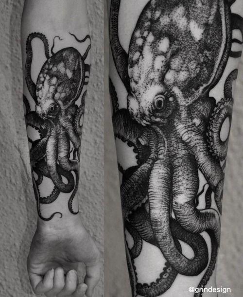 Robert Borbas Tattoo - Octopus
