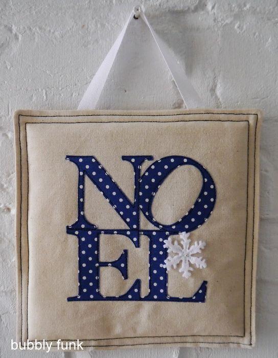 Wall Hanging - Noel - Blue