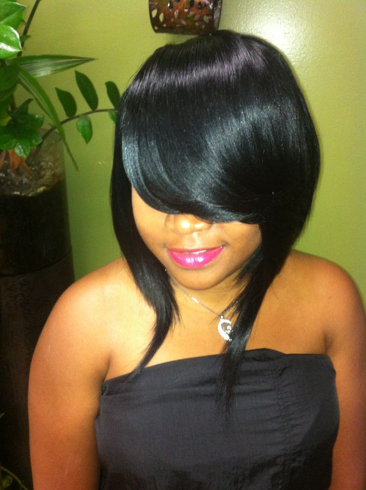 8 best Bob weave with bangs images on Pinterest | Bangs ...